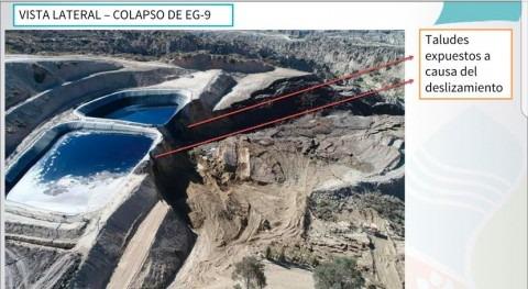 Colapsan aguas lixiviadas Alpacoma y Bolivia cuestiona si trabajo ha resultado precario