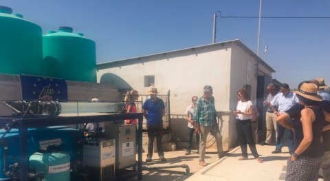 planta piloto descontaminará aguas mediante fotocatálisis solar Torre Pacheco