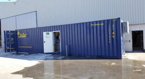 Instalación planta tratamiento aguas contenerizada Bielorussia (industria láctea)