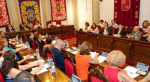 Pleno Ayuntamiento Cartagena, favor memorandum trasvase Tajo