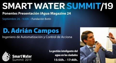 Adrián Campos, ACCIONA, profesionales que expondrá Smart Water Summit 2019
