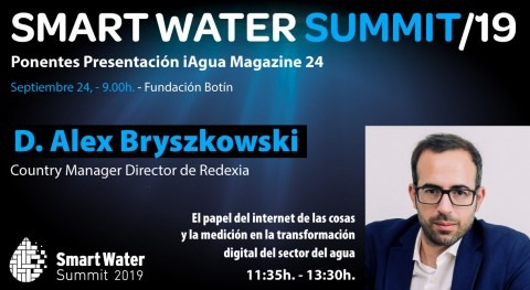 Alex Bryszkowski, Country Manager Director Redexia, ponente Smart Water Summit 2019