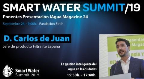 Carlos Juan, jefe producto Filtralite España, ponentes Smart Water Summit 2019