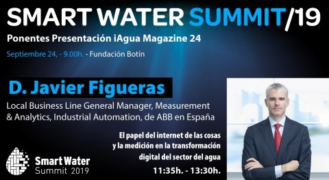 Javier Figueras, ABB, será ponentes Smart Water Summit 2019
