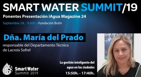 María Prado Torrecilla, Lacroix Sofrel España, será ponente Smart Water Summit 2019