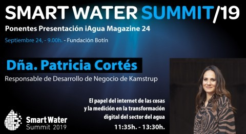 Patricia Cortés, Kamstrup, será ponente Smart Water Summit 2019