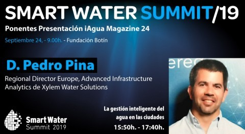 Pedro Pina, Xylem Water Solutions, será ponentes Smart Water Summit 2019