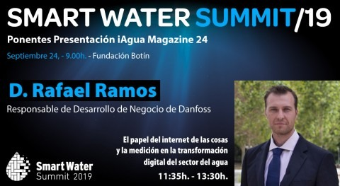 Rafael Ramos, Danfoss, será ponentes Smart Water Summit 2019