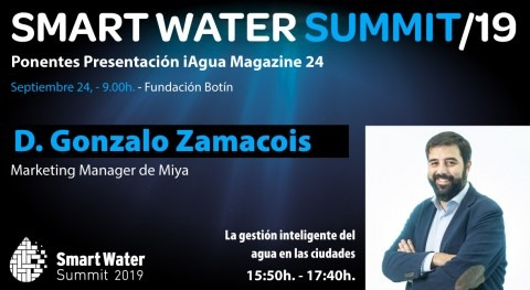 Gonzalo Zamacois, Marketing Manager Miya, protagonistas Smart Water Summit 2019