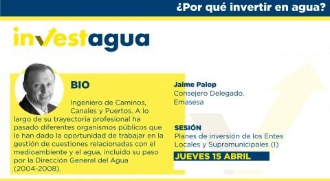 Jaime Palop (Emasesa) anuncia INVESTAGUA Plan Reactivación 535 millones euros