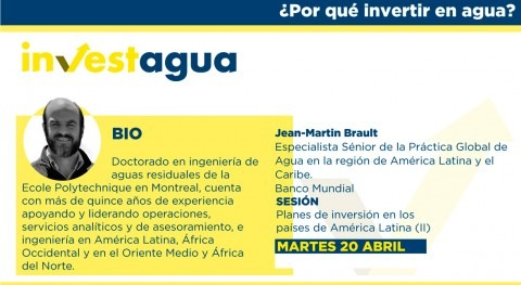 """Jean-Martin Brault expone INVESTAGUA visión Banco Mundial: """"Seguridad hídrica todos"""""""