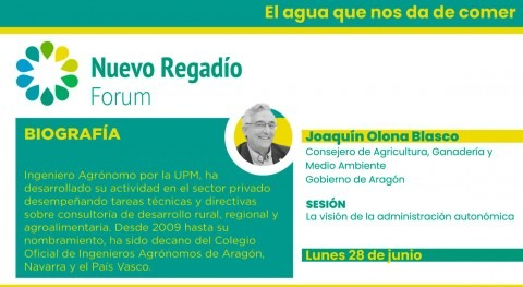 """Aragón apuesta modernización y creación regadíos """"planteamientos realistas"""""""