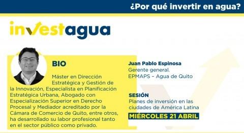 """Juan Pablo Espinosa INVESTAGUA: """"Quito necesita 900 M dólares descontaminación ríos"""""""