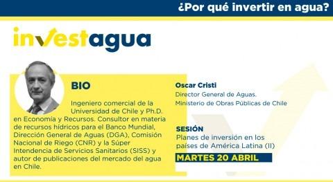 Óscar Cristi destaca INVESTAGUA necesidad potenciar marco institucional chileno