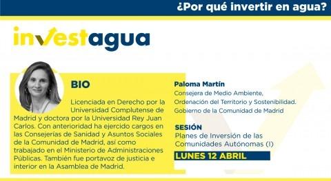 Paloma Martín anuncia INVESTAGUA inversión 2.500 millones € 2027 CAM