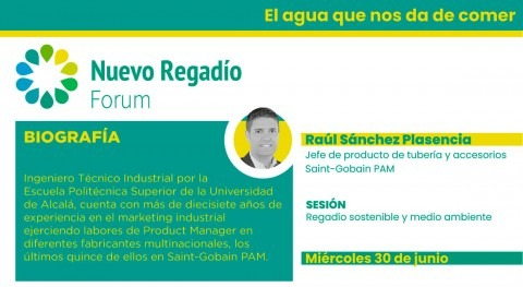 Participación Saint-Gobain PAM como patrocinador Nuevo Regadío Forum