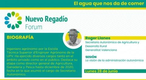 Roger Llanes recalca NRF que Estrategia valenciana Regadíos contempla 1.200 M€ 20 años