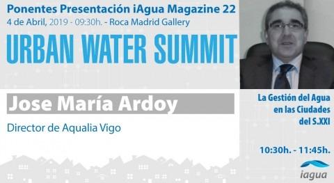 José María Ardoy, director Servicio Aqualia Vigo, ponente Urban Water Summit