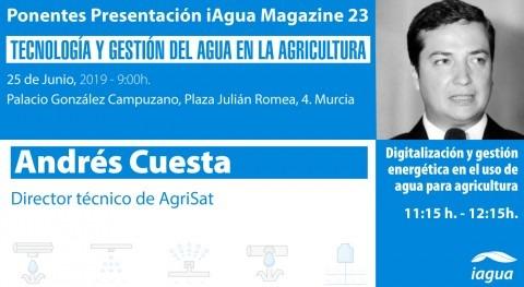 Andrés Cuesta, director técnico AgriSat, ponente presentación iAgua Magazine 23