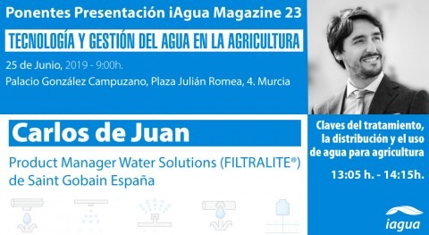 Carlos Juan (Filtralite) será ponentes presentación iAgua Magazine 23