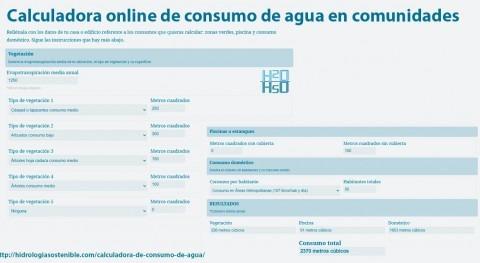 primera calculadora online consumo agua comunidades vecinos