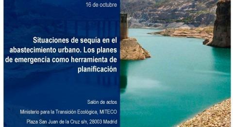 MITECO y AEAS celebrarán jornada situaciones sequía abastecimiento urbano
