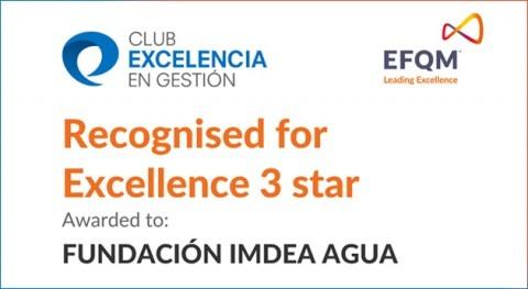 IMDEA Agua obtiene Sello Excelencia Europea EFQM 300+