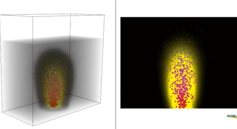 Modelización flujos líquido-gas plantas tratamiento agua