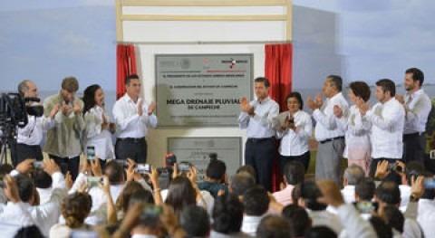 Inaugurado mega sistema hidráulico drenaje pluvial Campeche