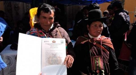 Bolivia entrega registros colectivos uso eficiente agua 4.500 familias agricultoras