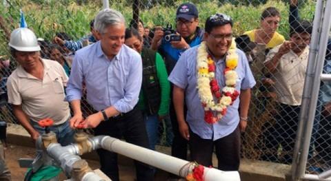 comunidades productivas Quillacollo Bolivia ya disponen pozos agua