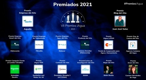 Premios iAgua 2021 dan conocer ganadores como colofón INVESTAGUA