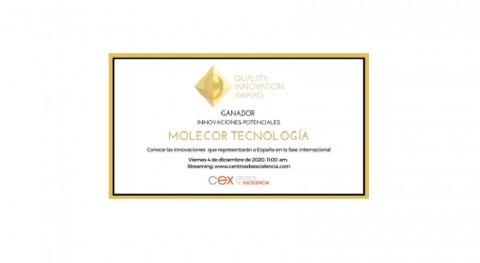 Molecor, galardonada Categoría Innovación Potencial Premio QIA 2020