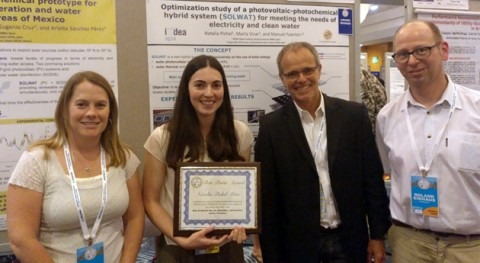 "Natalia Pichel, premio al mejor póster ""World Conference on Photovoltaic Energy Conversion"""