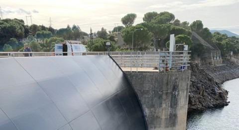Confederación Tajo renueva compuertas aliviadero presa San Juan