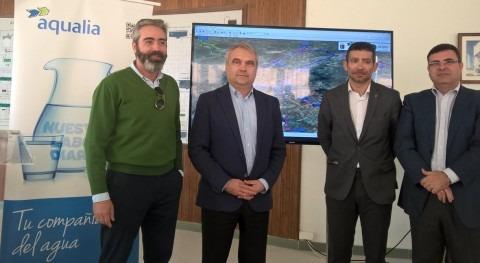 red municipal agua Badajoz, controlada distancia 24 horas día, 365 días año
