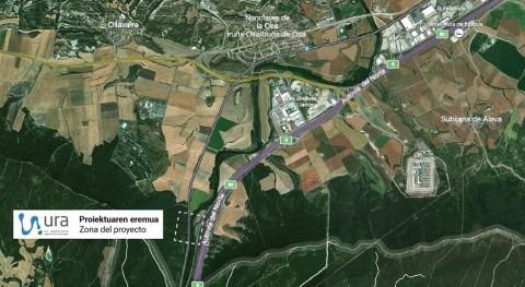 URA construye nueva estación aforo Zadorra, Nanclares Oca