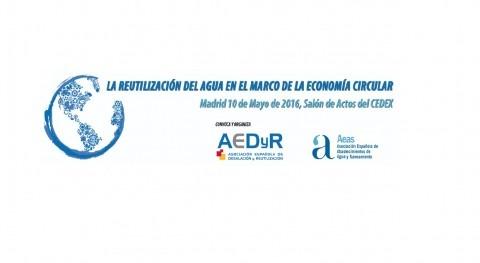 """Jornada """" reutilización agua marco economía circular"""""""