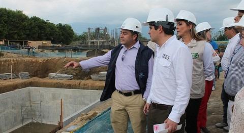 Luis Felipe Henao visita la PTAR de Armenia