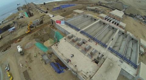 Construcción de la PTAR La Chira en Perú.