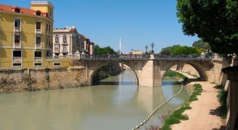 Río Segura a su paso por Murcia (Wikipedia/CC).