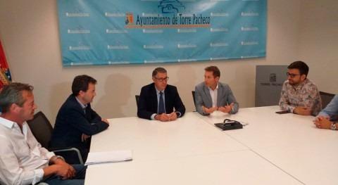 Mario Urrea se reúne alcalde Torre Pacheco hablar limpieza ramblas