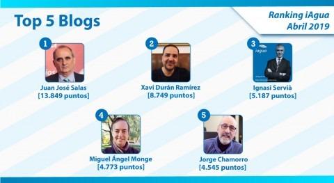 Juan José Salas mantiene liderazgo Ranking iAgua Blogs