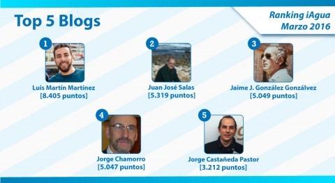 Luis Martín Martínez lidera nuevo Ranking iAgua Blogs