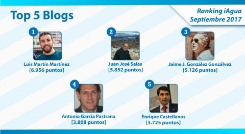 Luis Martín Martínez mantiene numero 1 Ranking iAgua Blogs