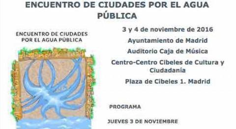 Aeopas participa Encuentro ciudades agua pública