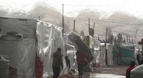 refugiados sirios Líbano se ven obligados huir temporal nevadas y tormentas