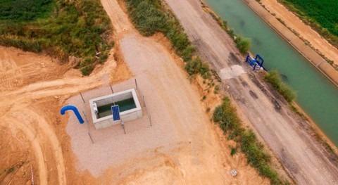 Regaber instala compuerta automática Comunidad Regantes Molinar Flumen