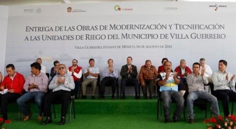 Estado México elevará 30 al 70% eficiencia riego agrícola