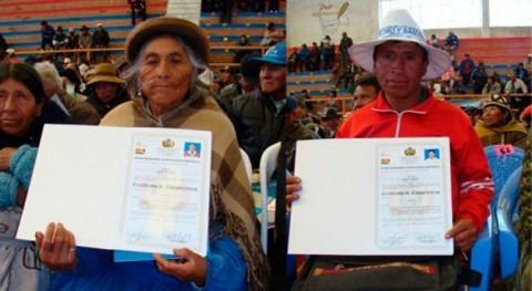 Gobierno boliviano certifica 747 regantes Oruro